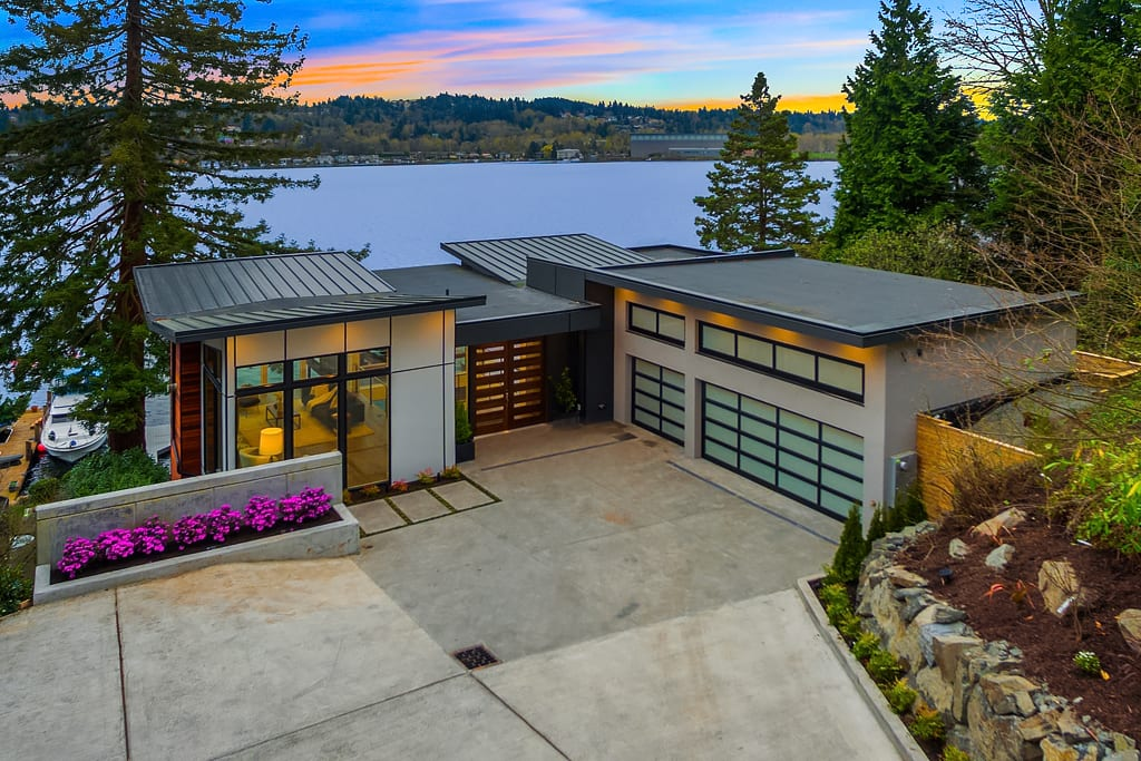 Ave Mercer Island Waterfront Home Barcelo Homes Modern Green Quality